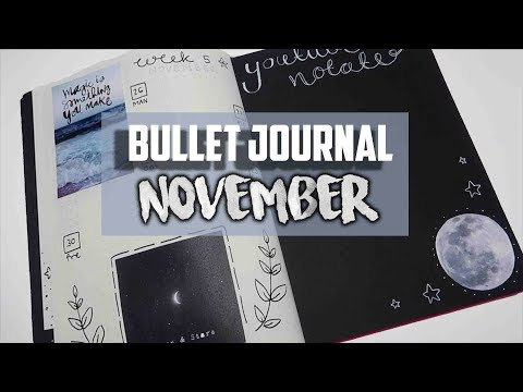 Bullet journal NOVEMBER 2018! Collage, black and white theme  | Mina Jacobsen