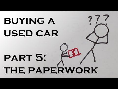 Buying a Used Car – Part 5: The Paperwork