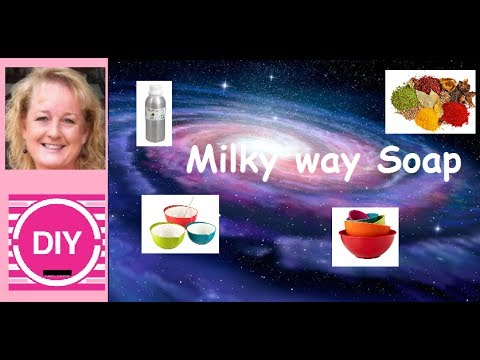 How to make Milky Way Cold Process Soap