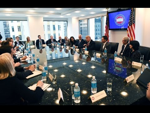 President Donald Trump Leads a Listening Session with Manufacturing CEOs 2/23/2017