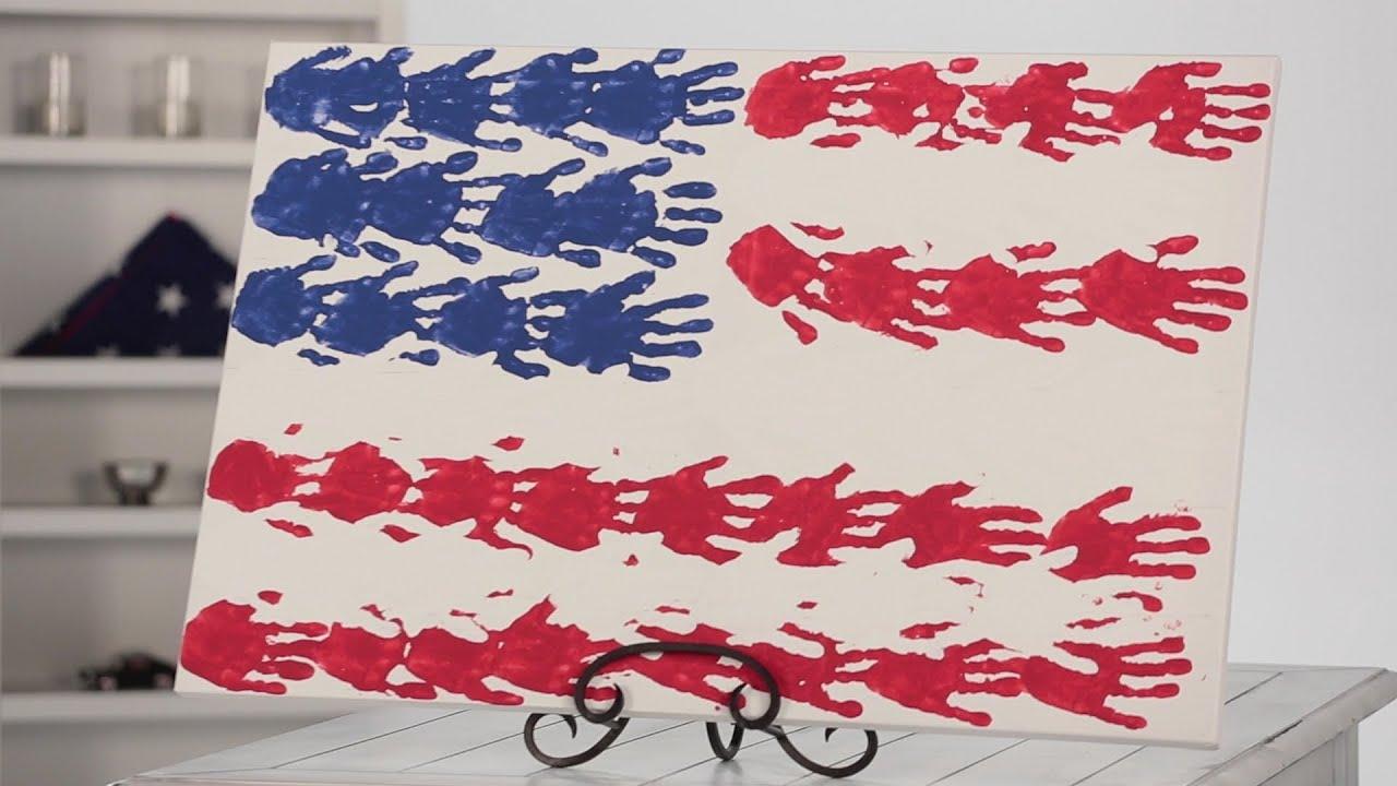 Handprint Flag Canvas