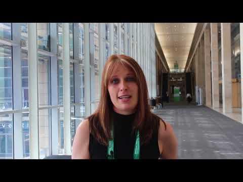Mining Review Africa editor Laura Cornish at Mining Indaba 2018