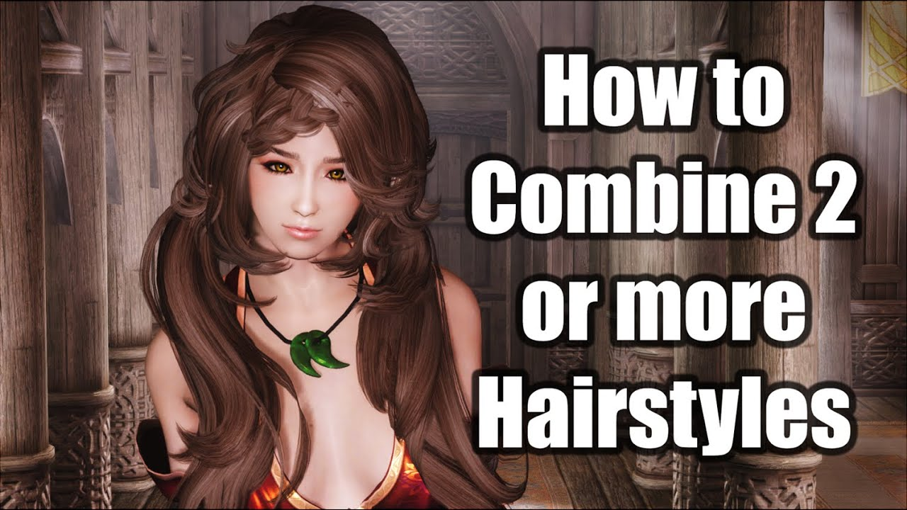 Combined Hairstyles Collection at Skyrim Special Edition