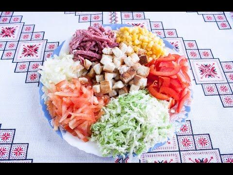 Быстрые салаты простые, легкие, доступные салатики с фото