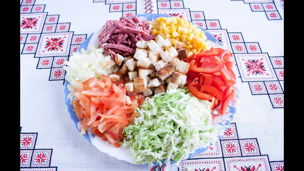 салат быстрого приготорления рецепт