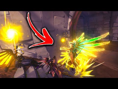 IMPOSSIBLE CRAZY MERCY TRICK?? - Overwatch Funny Moments & Best Plays 83