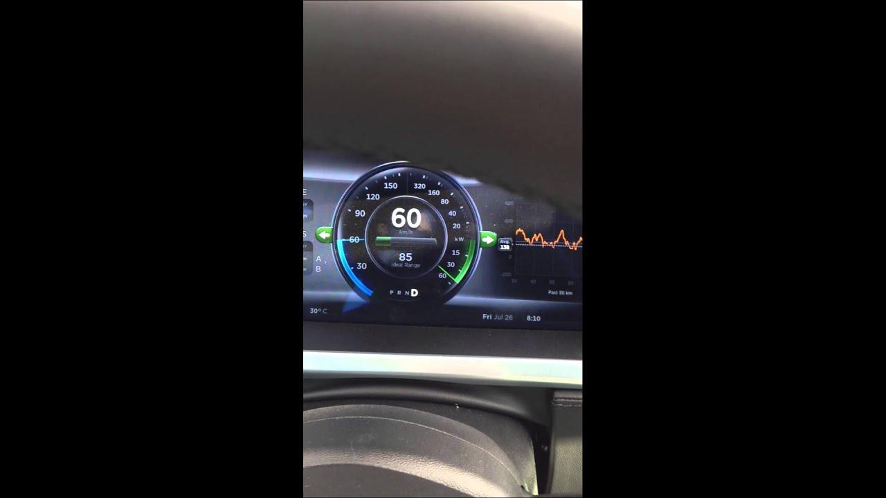 Зарядка Tesla Model S на веревке, вслед за грузовиком.