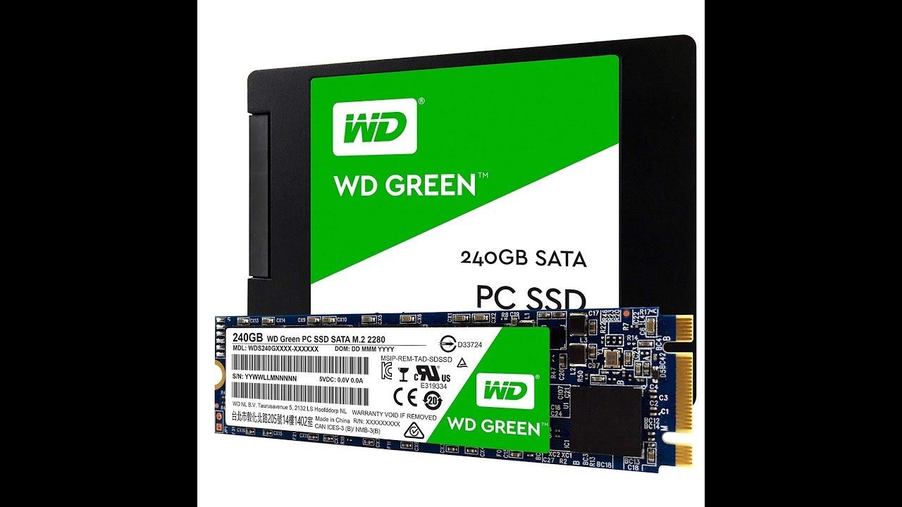 "WD Green WDS240G1G0A 240GB SATA 2.5/"" Internal Solid State Drive"