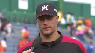 マリーンズ・スタンリッジ投手のヒーローインタビュー動画。 2017/07/25...