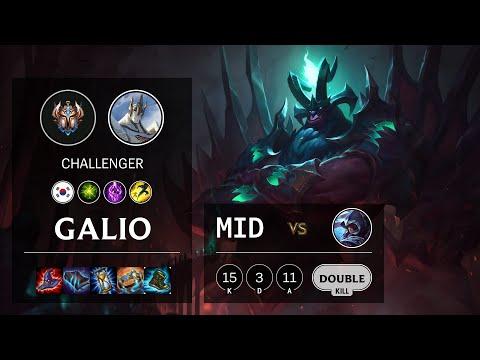 Galio Mid vs Talon - KR Challenger Patch 10.22