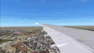 Fsx Airbus A380 Landing At Cairo Intl Airport Thumbnail