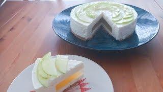 青蘋果啫厘夾心芝士凍餅 - Green Apple Cheesecake with jelly filling