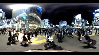 THETA S: Sunday night at Shibuya Crossing, Tokyo [360 VIDEO]