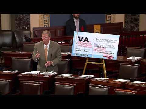 Isakson Discusses VA Accountability on Senate Floor