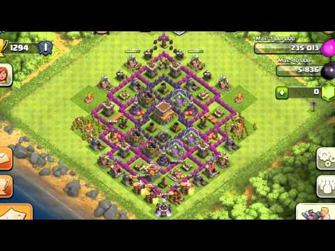 Clash Of Clans Town Hall 8 Setup (With Extra Walls)