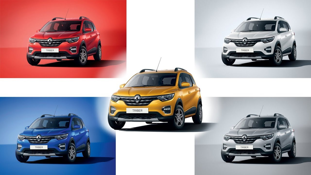 Renault Triber All Colours First Look Images Autobics Youtube