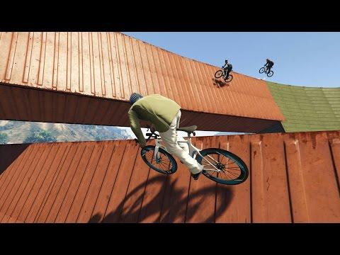 Воллрайды на велосипедах и квадроциклах в GTA 5 Online [Гонки]