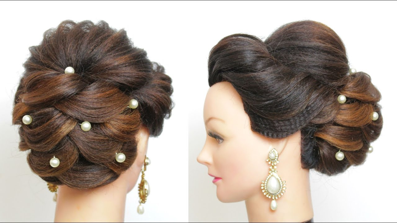 New Wedding Updo Bridal Hairstyle Tutorial For Long Hair
