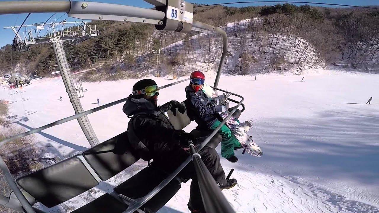 Snow Shredding at YongPyong Resort, Korea - YouTube Shredding Snow