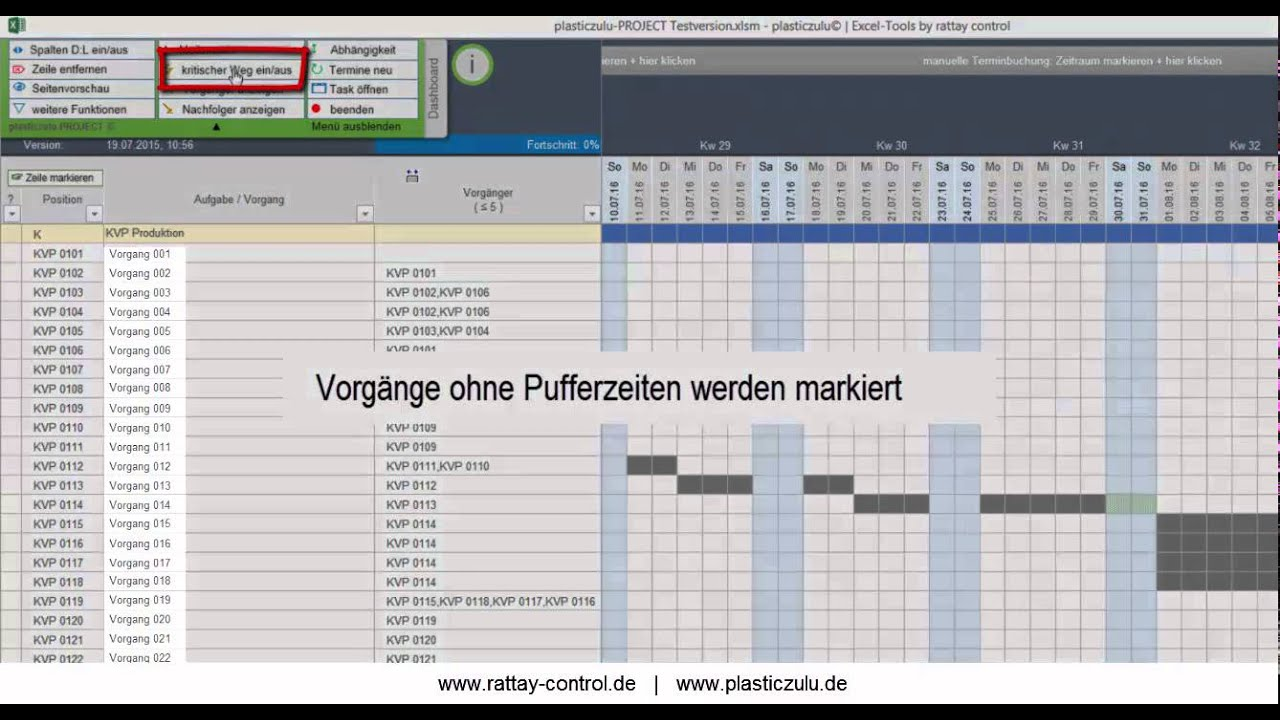 Projektplanung, Aufgabenplanung, Gantt-Diagramm mit Excel - YouTube