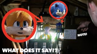 SONIC AND TAILS LEFT ME A NOTE IN REAL LIFE! *They ESCAPED!*