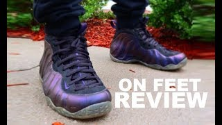 c1789e33592ce6 Nike Foamposite Eggplant Sneaker On Feet Review By Dj Delz - Sneaker  Youtuber