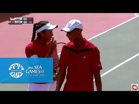 Tennis Mixed Double Indonesia vs Cambodia  (Day 5) | 28th SE