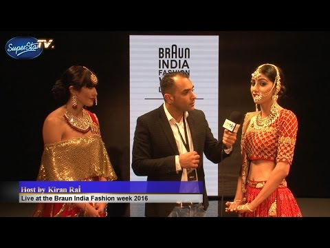Live Interviews at the Indian Fashion week london 2016