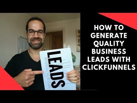 Clickfunnels Lead Generation Tutorial