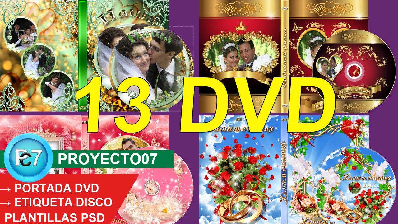 13 Dvd BODAS[PORTADA y ETIQUETA] plantillas PSD editables ...