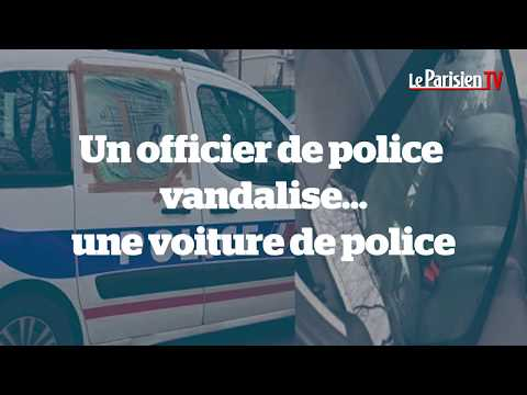 Un officier de police vandalise… une voiture de police