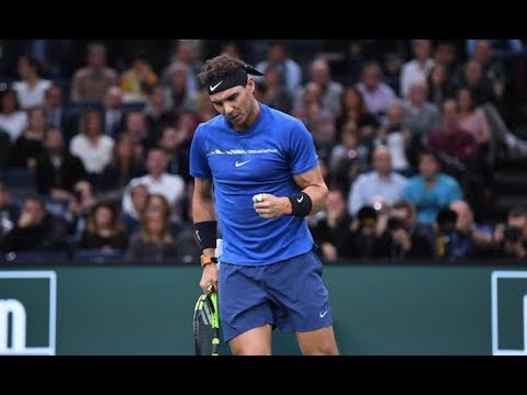 Rafael Nadal - Crazy or not ? | Top  5 Points in Rolex Paris Masters 2017
