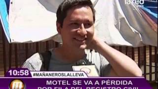 Motel se va a pérdida por fila del registro civil