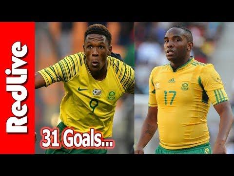 Can Lebogang Mothiba Break Benni McCarthy's Bafana Bafana Goals Record