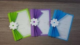 فكرة جميلة جدا لعمل بطاقة تهنئة لكل المناسبات 💗 Paper greeting card