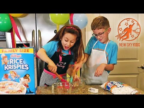 Kids Kitchen Real Recipes 1 - Kids Cooking Rice Krispie Treats Pretend Play