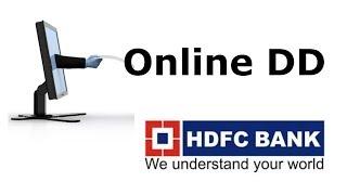 Part-I Comment à la demande DD - Projet de Demande en ligne à partir de HDFC Bank. Ne pas aller à la banque pour faire DD :)