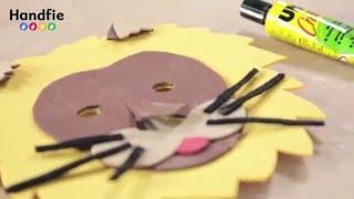 Disfraz de león - Cómo hacer una careta infantil con goma eva