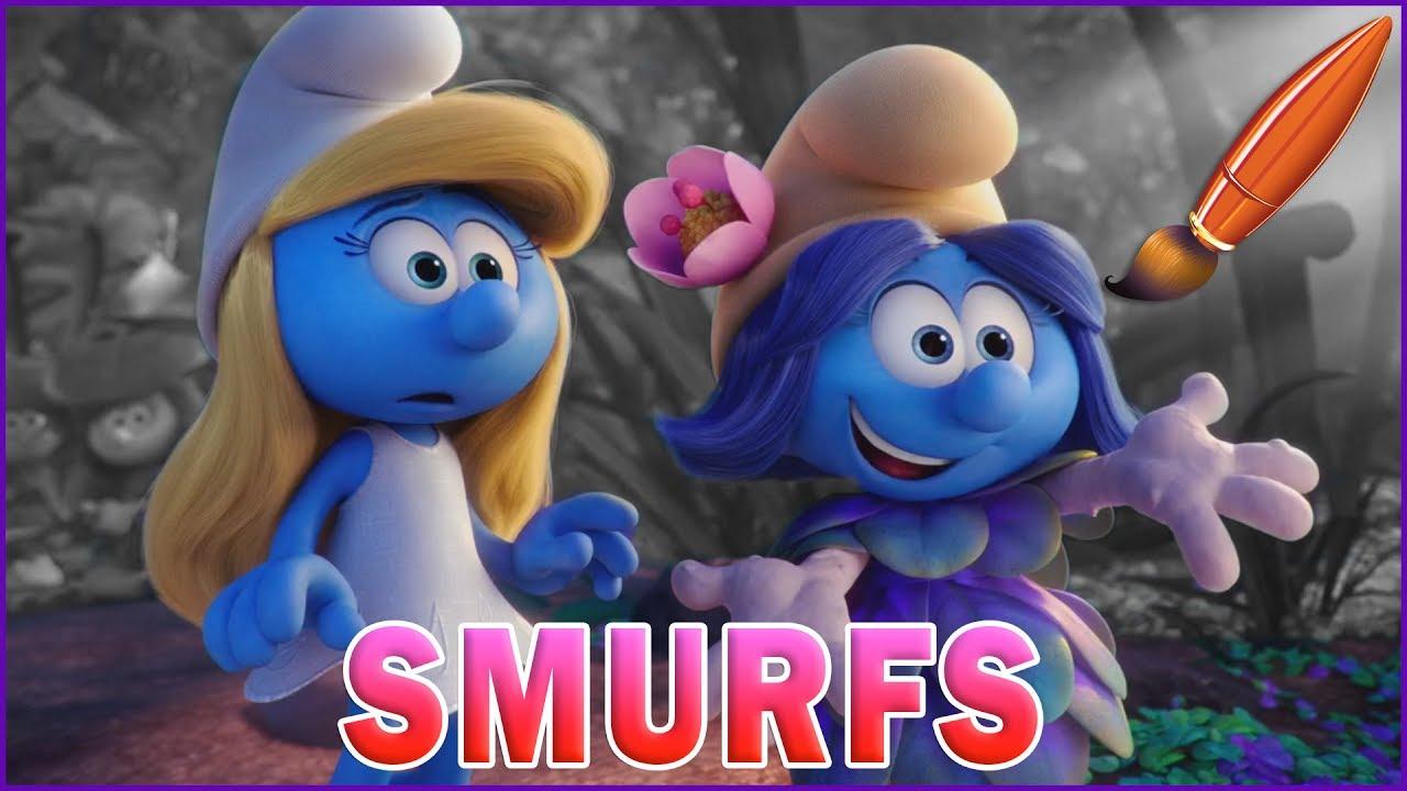 Smurfette Meets Smurfblossom Kids Coloring Book