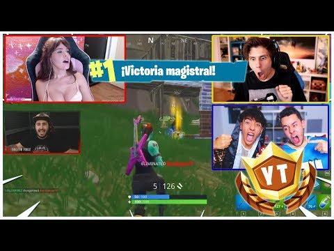 VICTORIA EPICA De LOLiTO FDEZ 'KILL CAMs' Youtubers Reaccionando en el Torneo de FORTNITE del Rubius