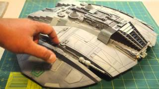 Moebius 1/32 Cylon Raider finished (and lighted) model