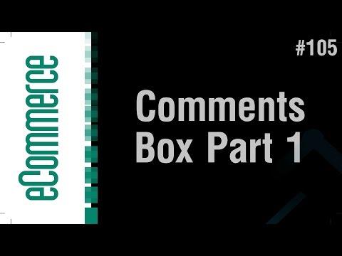 eCommerce Shop in Arabic #105 - Show Comments Box Part 1