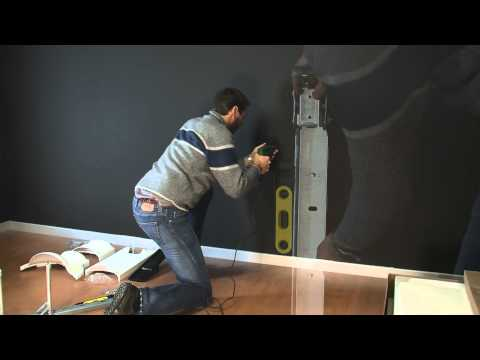 Un support tv mural sans percer erard standit doovi - Comment fabriquer un support mural tv ...