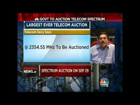 Govt To Auction Telecom Spectrum On Sep 29