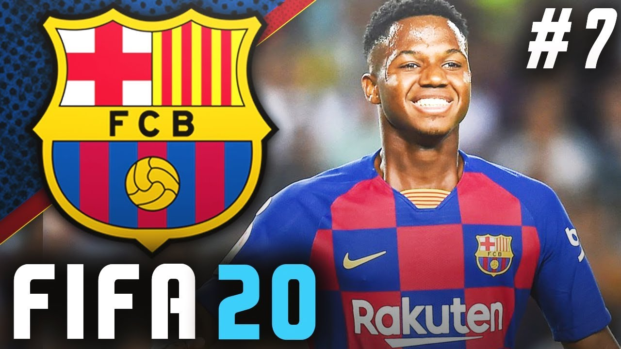 Fifa 20 Barcelona Career Mode Ep7 Ansu Fati Signs New Contract Youtube