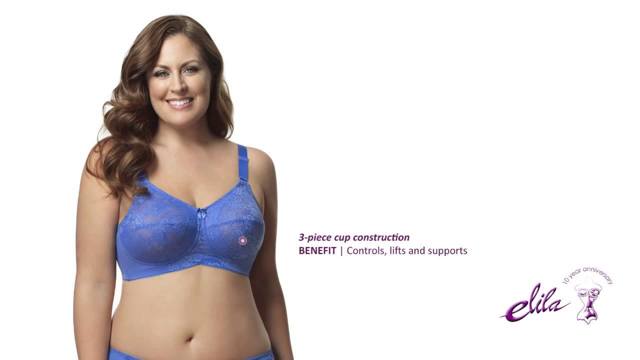 88ace75bcd908 Elila Lace Softcup Plus Size Bra - Style 1303 - YouTube