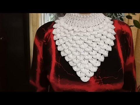 Манишка крючком и спицами для женщин схемы вязания