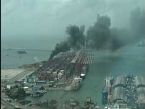 Fire erupts at the eastern terminal of Colombo Harbour