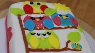 Tort z sówkami na pierwsze urodziny. Jak zrobić sówki z lukru ? Domowy przepis na torty dla dzieci