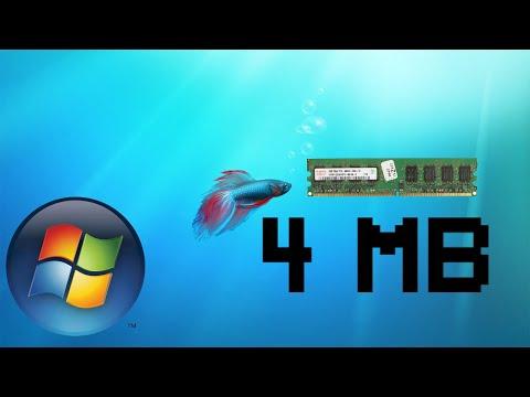 Запуск Windows 7 на 4 мегабайтах ОЗУ, возможно ли?